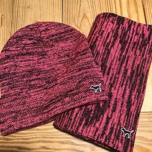 VS PINK hat & scarf